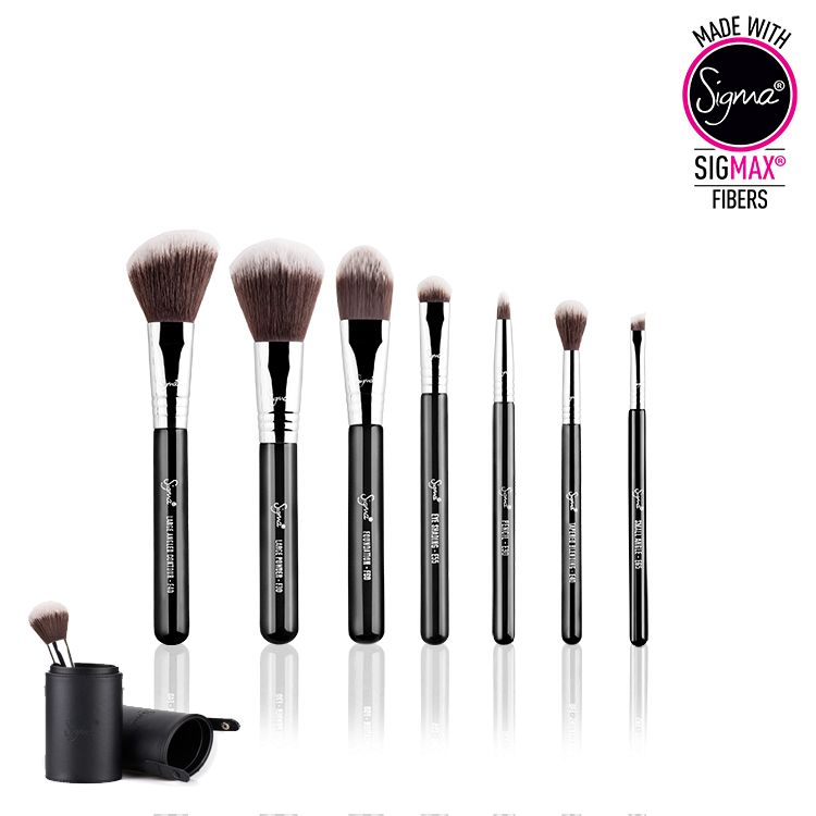7 Piece Brush Set - Sigmax® Essential Travel Brush Set