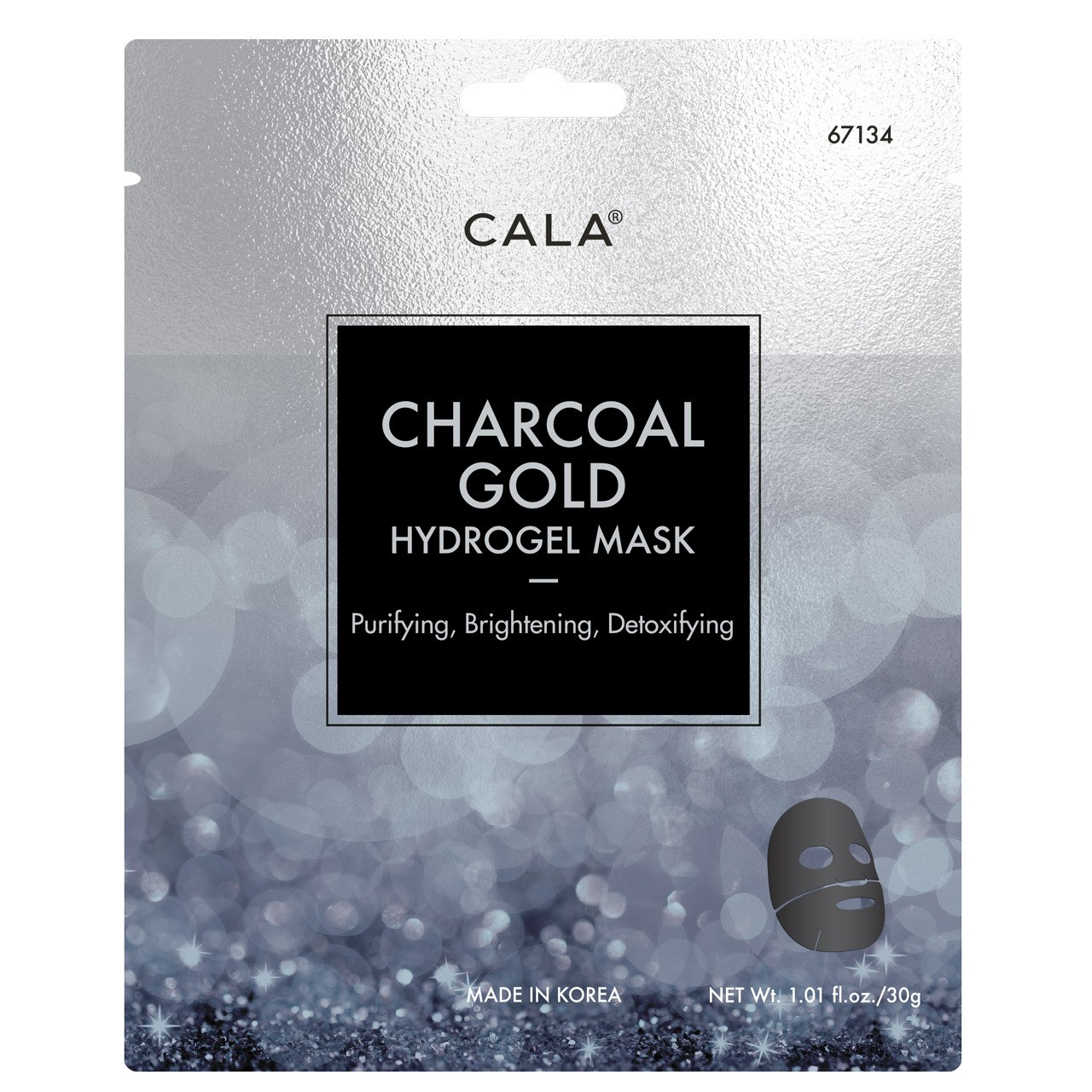 Charcoal Gold Hydrogel Mask (3 Pieces)