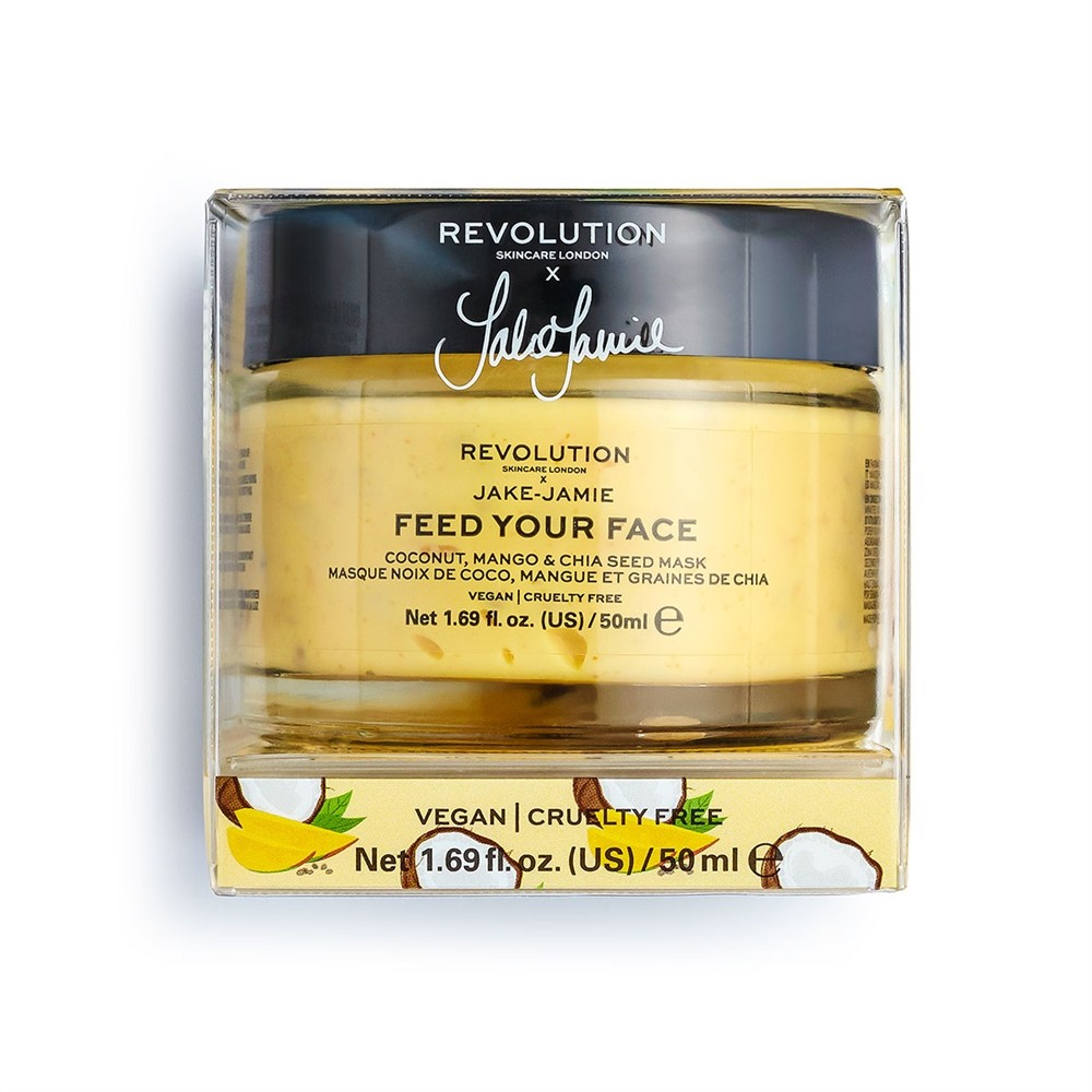 Gesichtsmaske - Revolution Skincare x Jake-Jamie - Feed Your Face - Coconut, Mango & Chia Seed Mask