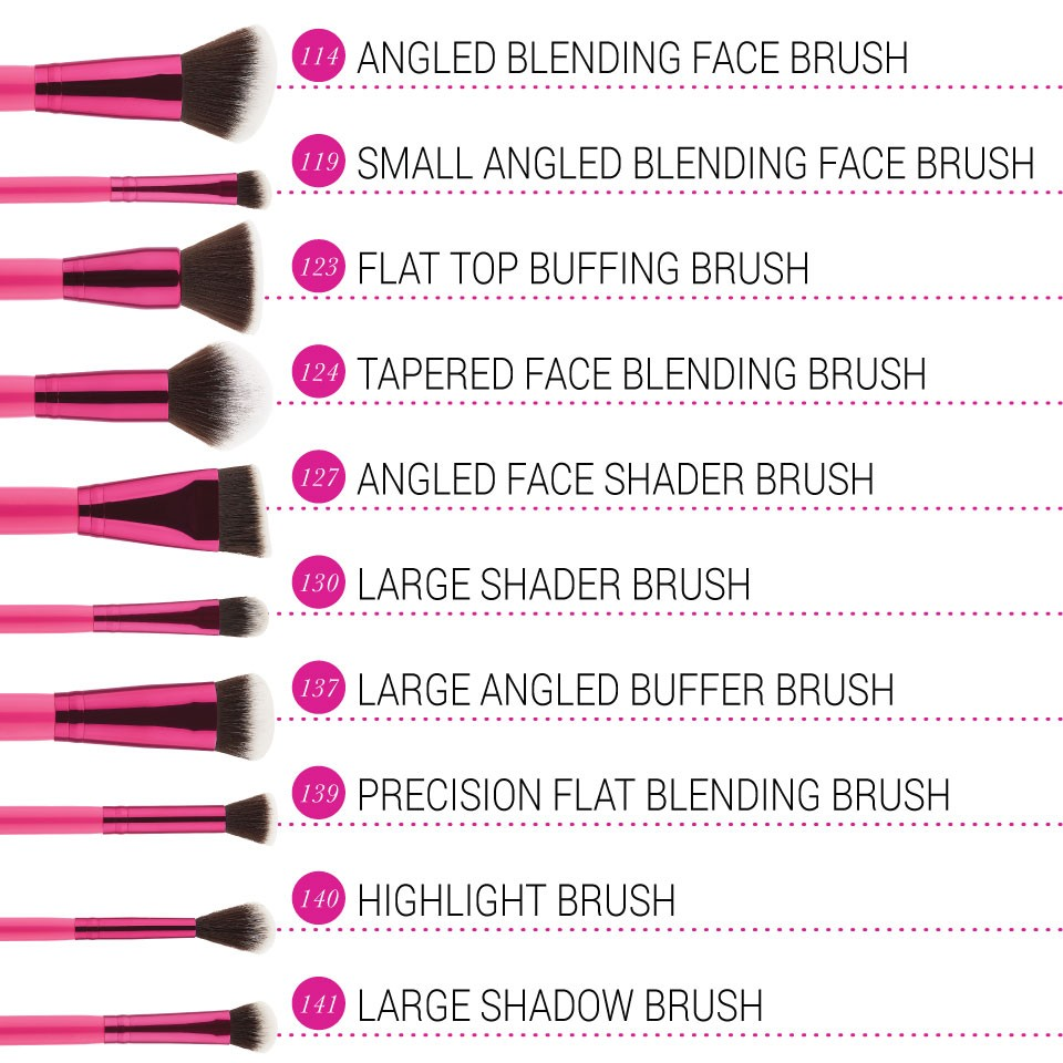 10-Teiliges Pinsel-Set - Sculpt And Blend Fan Faves