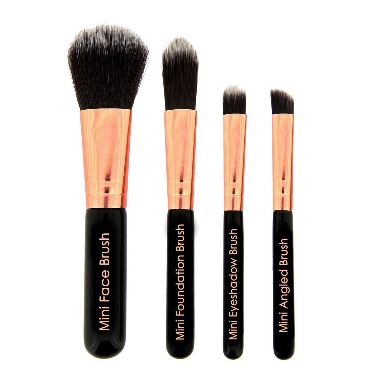 makeup revolution 4 teiliges pinsel set pro go mini. Black Bedroom Furniture Sets. Home Design Ideas