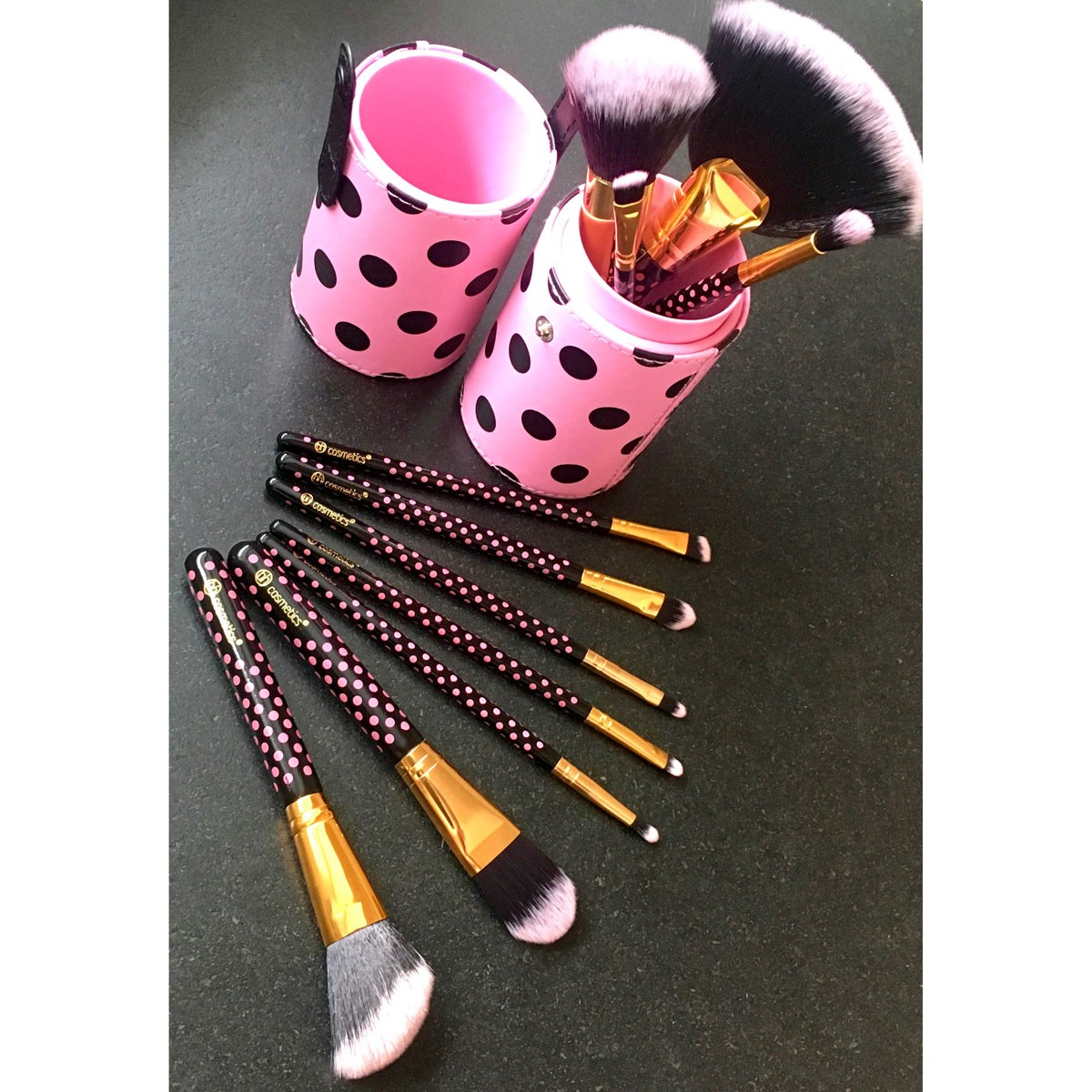 11-Teiliges Pinsel-Set - Pink-A-Dot