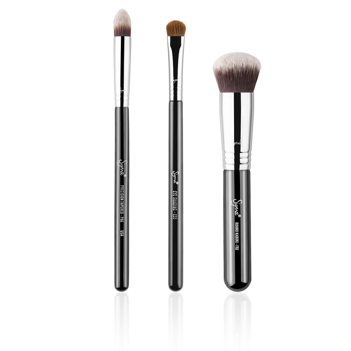 3-Teiliges Pinsel-Set - Naturally Polished Brush Set