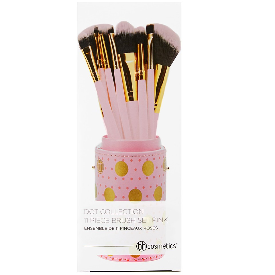 11-Teiliges Pinsel-Set - Dot Collection Pink