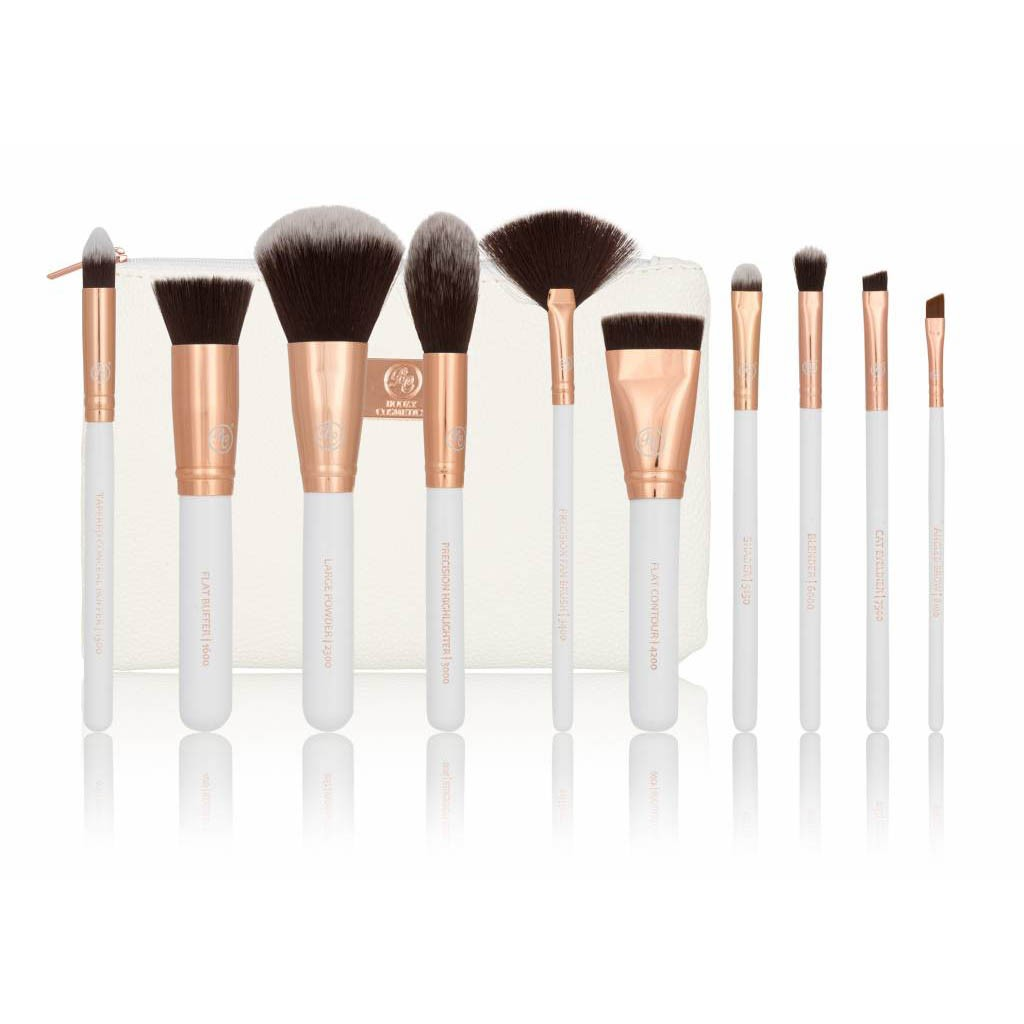 10 Piece Brush Set - Rosé Gold Sculpt & Blend Vol. 2