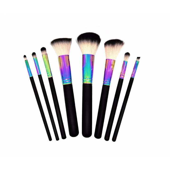 8-Teiliges Pinsel-Set - The Clam Club Rainbow Makeup Brush Set