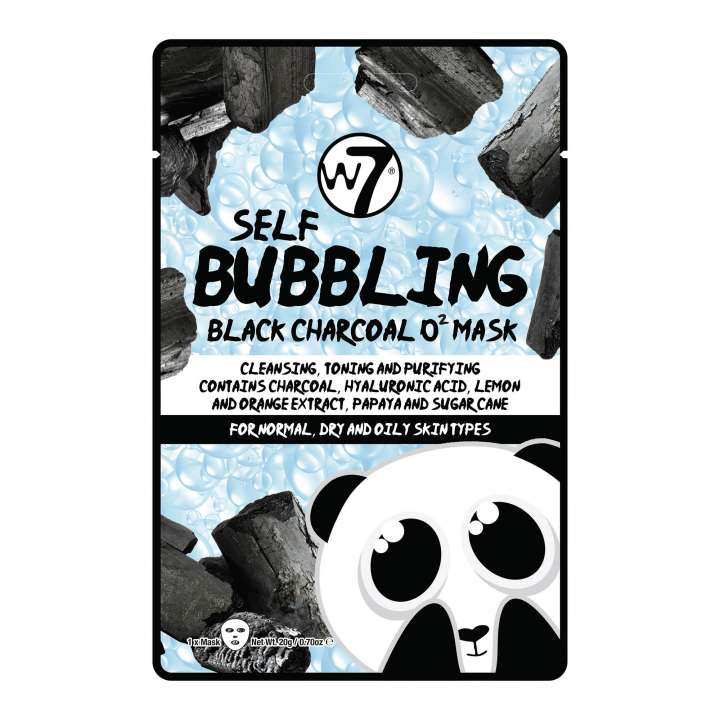 Gesichtsmaske - Self-Bubbling Black Charcoal O2 Face Mask
