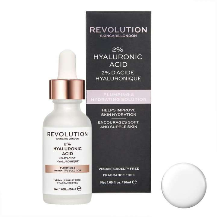 Sérum Visage - Plumping & Hydrating Solution - 2% d'Acide Hyaluronique
