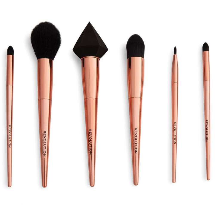 6-Teiliges Pinsel-Set - Reloaded Rose Gold Brush Set