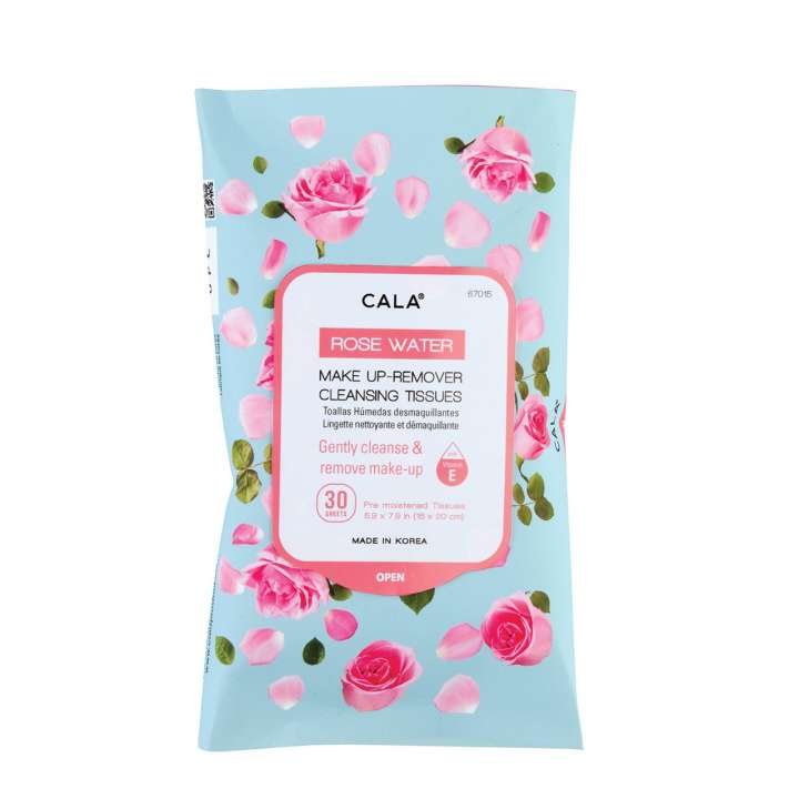 Make-Up Remover Cleansing Tissues - Rose Water (30 Sheets)