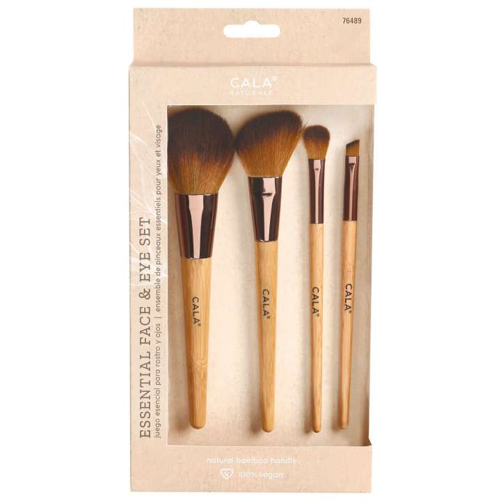 4-Teiliges Pinsel-Set - Bamboo Essential Face & Eye Set