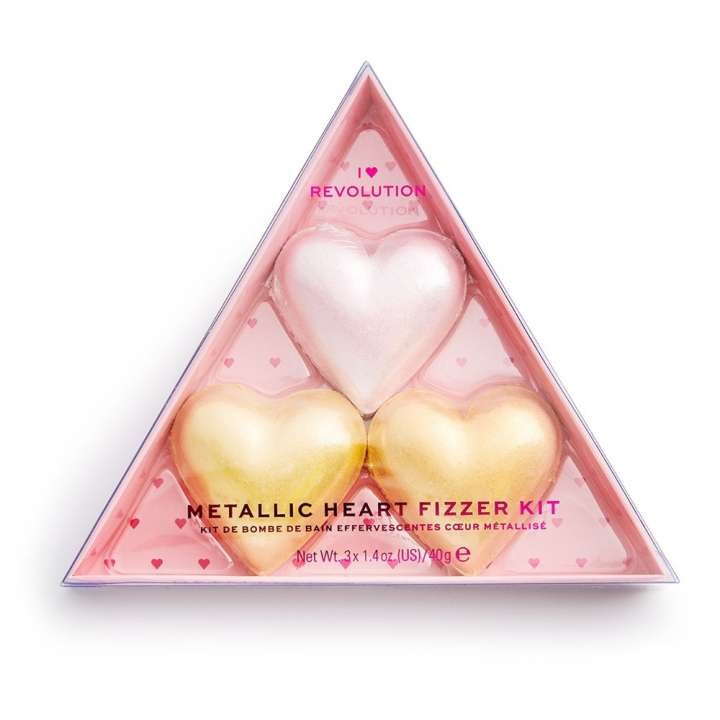 Kit de Bombes de Bain - Metallic Heart Fizzer Kit
