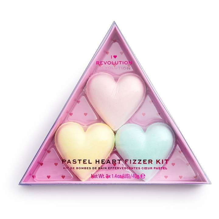 Badebomben-Set - Pastel Heart Fizzer Kit