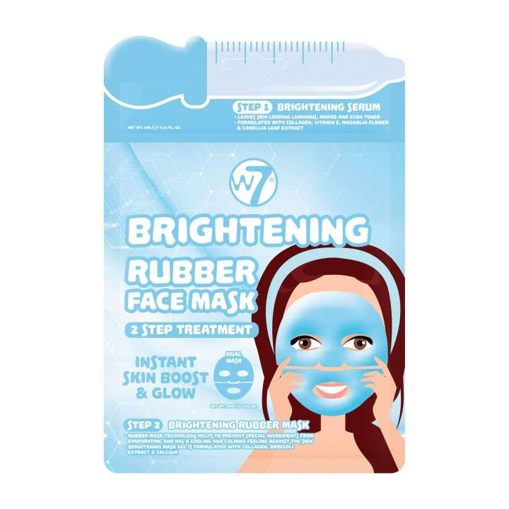 Brightening 2 Step Treatment Rubber Face Mask