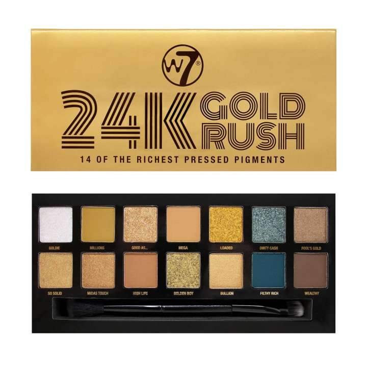 Eyeshadow Palette - 24K Gold Rush Pressed Pigments