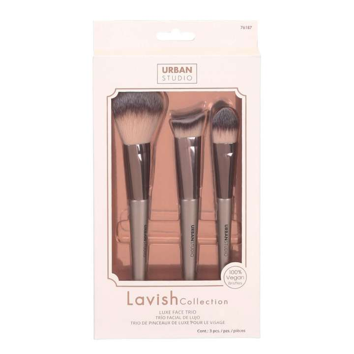 3-Teiliges Pinselset - Lavish Collection Luxe Face Trio