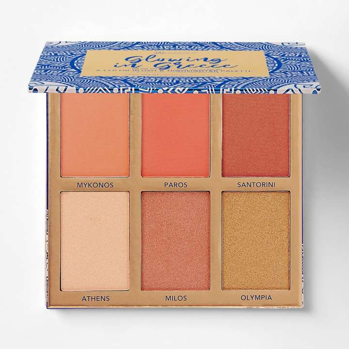 Glowing In Greece - 6 Color Blush & Highlighter Palette