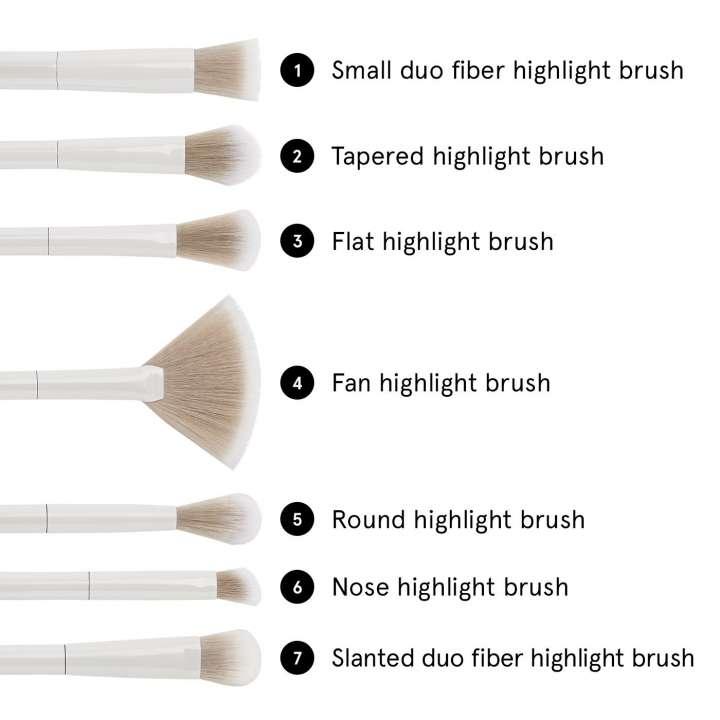 7-Teiliges Pinsel-Set - Highlighting Essentials