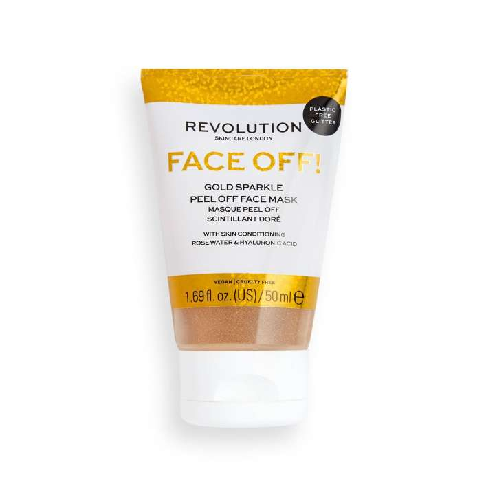 Face Off! Gold Sparkle Peel Off Face Mask
