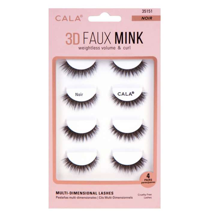 False Eyelash Set - 3D Faux Mink Lashes - Noir
