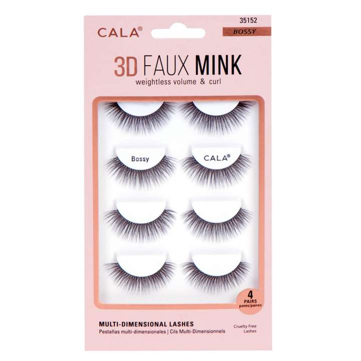 False Eyelash Set - 3D Faux Mink Lashes - Bossy