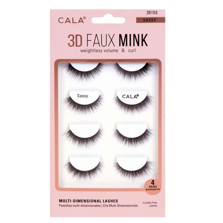 False Eyelash Set - 3D Faux Mink Lashes - Sassy