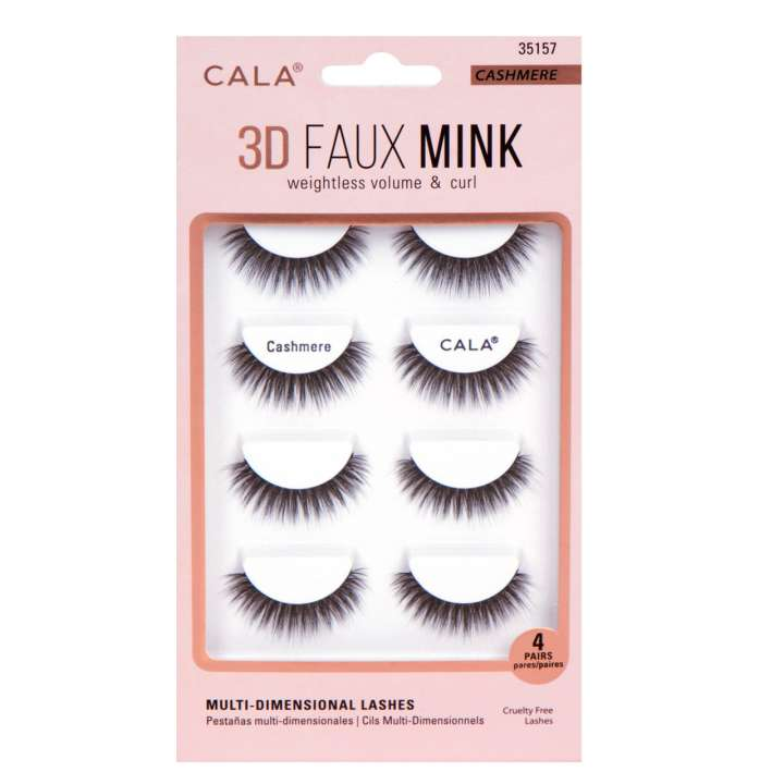 False Eyelash Set - 3D Faux Mink Lashes - Cashmere