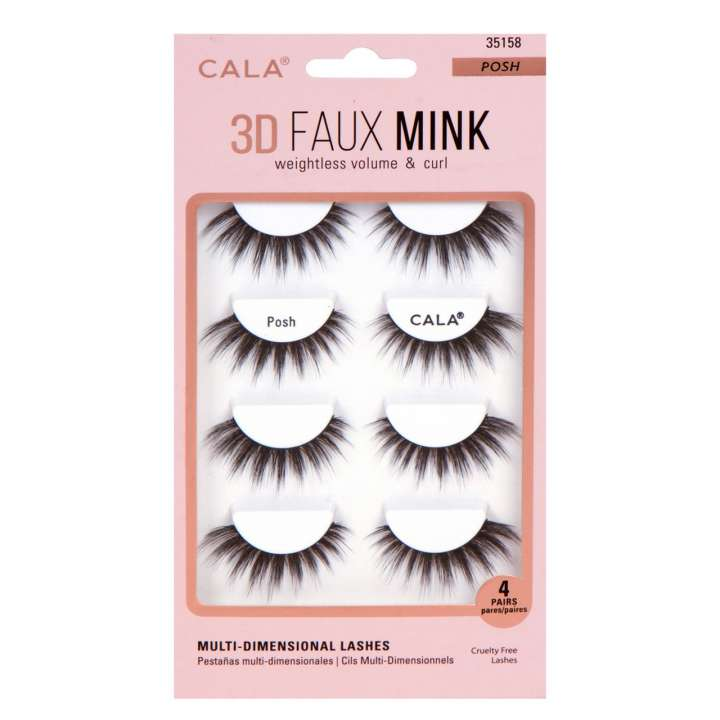 False Eyelash Set - 3D Faux Mink Lashes - Posh