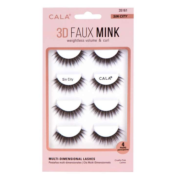 False Eyelash Set - 3D Faux Mink Lashes - Sin City