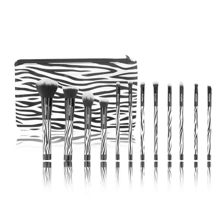 12-Teiliges Pinsel-Set - 12 Piece Brush Set - Zebra