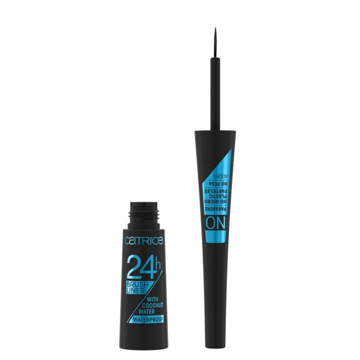 Flüssig-Eyeliner - 24h Brush Liner Waterproof