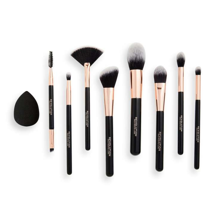 8-Teiliges Pinsel-Set & Schwamm - The Brightes Star Brush Collection
