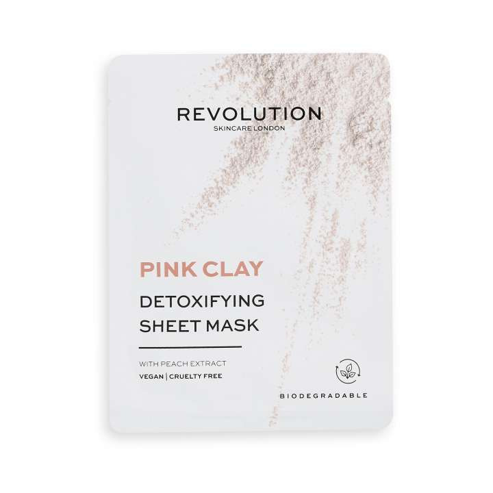 Detoxifying Pink Clay Sheet Mask (5 Pièces)