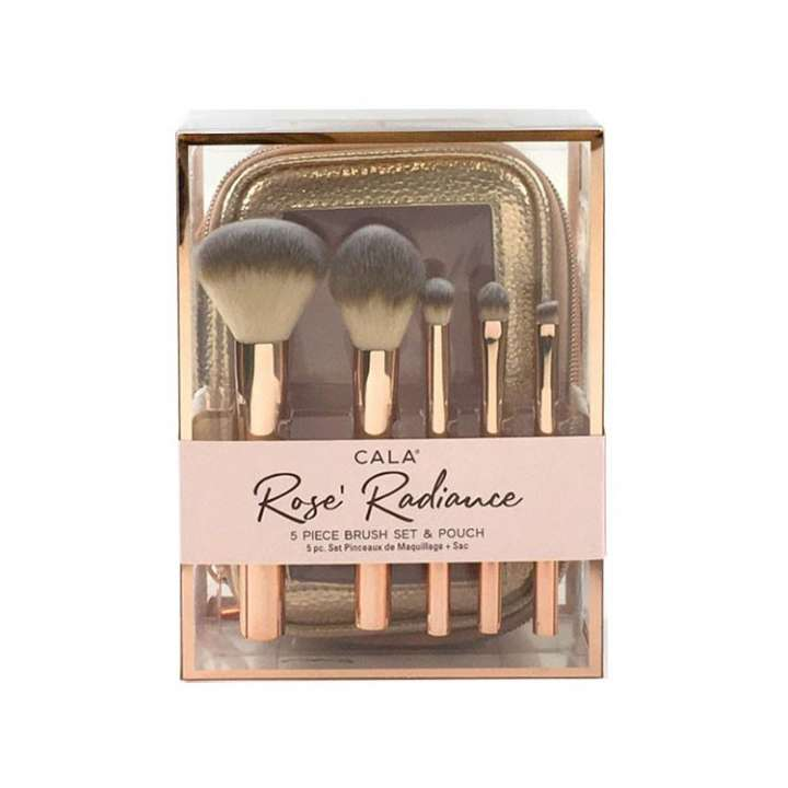 5-Teilige Pinsel-Set - Rose' Radiance 5 Piece Brush Set & Pouch