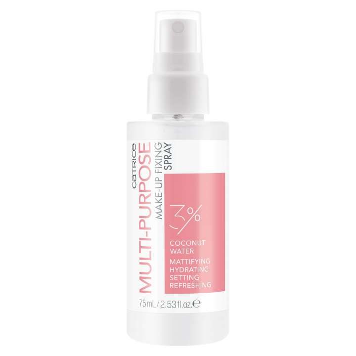Spray Fixant & Base de Teint - Multi-Purpose Make-Up Fixing Spray 3% Coconut Water