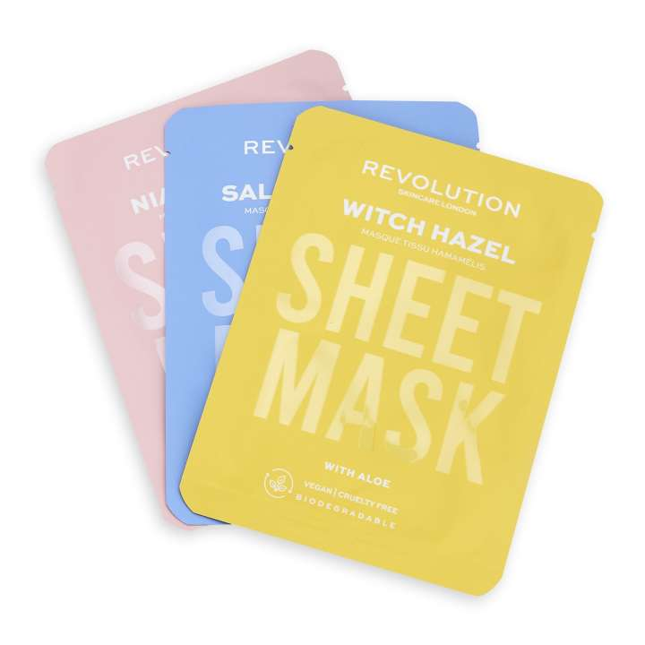 Face Mask Set - Blemish Prone Skin Sheet Mask (3 Pieces)