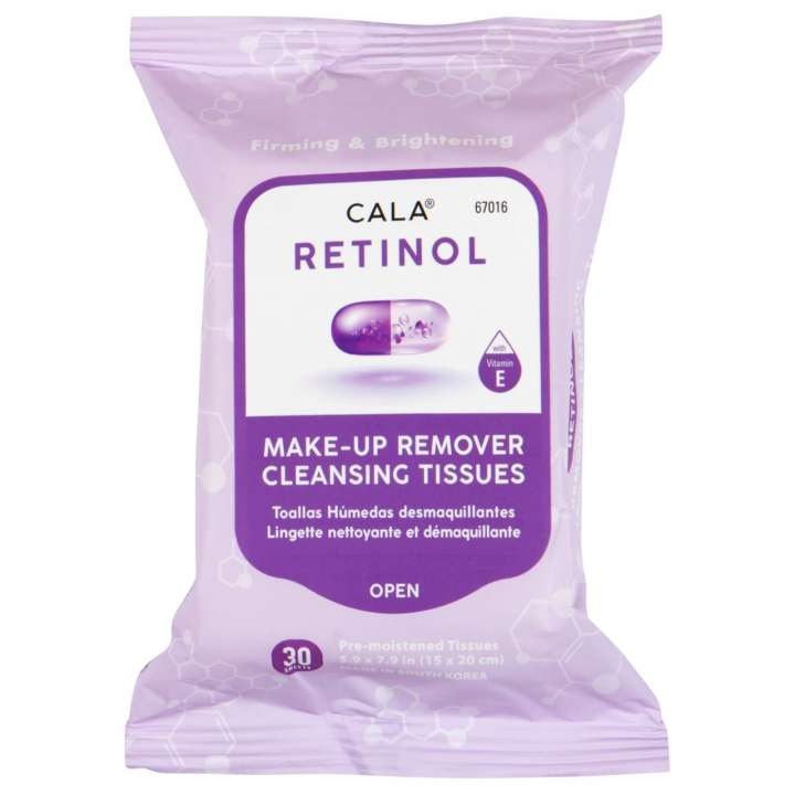 Retinol Make-Up Entfernungstücher - Make-Up Remover Cleansing Tissues - Retinol (30 Stück)