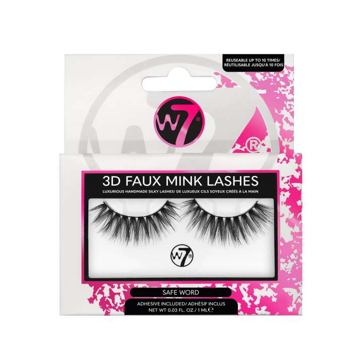 False Eyelashes - 3D Faux Mink Lashes - Safe Word