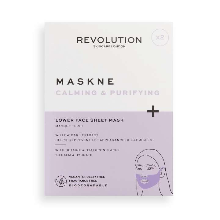 Gesichtsmaske - Maskne Calming & Purifying Lower Face Sheet Mask (2 Stück)