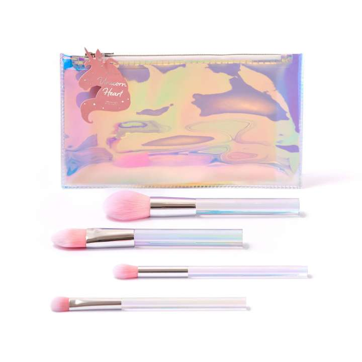 4-Teiliges Pinsel-Set - Unicorn Heart Glow Brush Set