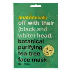 Gesichtsmaske - Off With Their (Black And White) Head - Botanical Purifying Tea Tree Face Mask