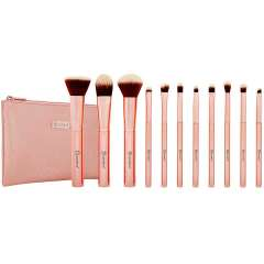 11 Piece Brush Set - Metal Rose