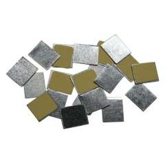 Square Metal Stickers (30 Pièces)