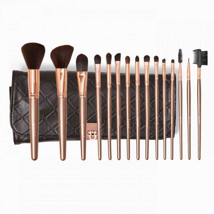 15-Teiliges Pinsel-Set - Rose Gold
